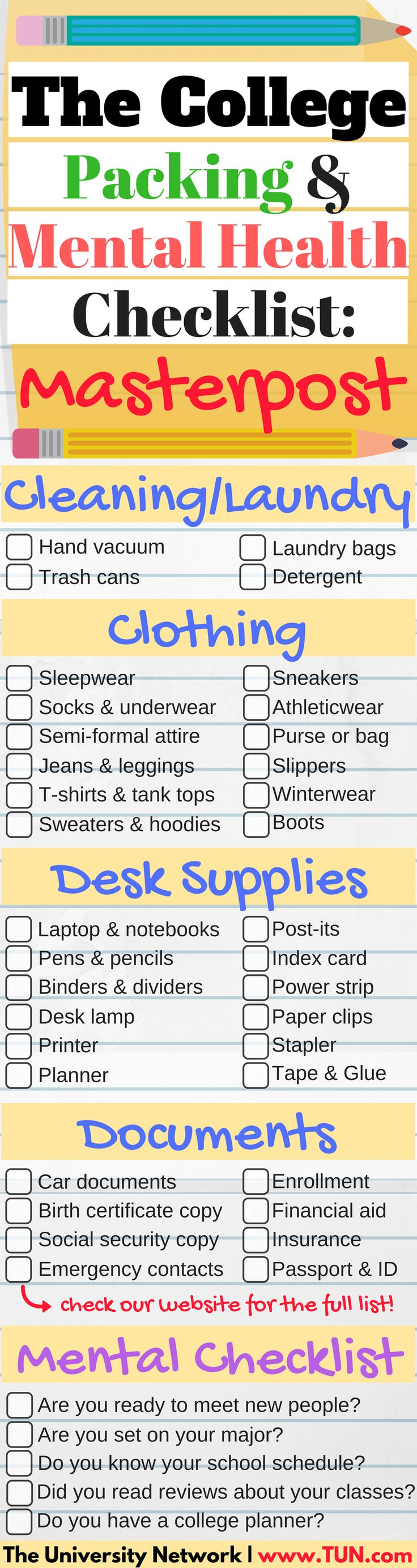 Before you start packing for college, make sure you know WHAT to pack and what NOT to pack! Save time and money!