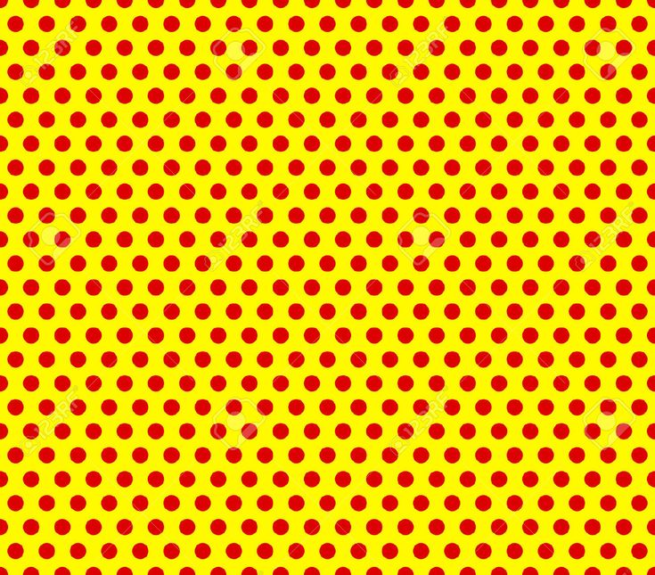pop art red dots on yellow - Google Search