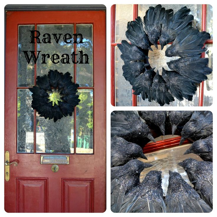 rook no recipes crafts whimsies for spreading joy easy elegant raven wreath so great for halloween perfect mix of elegance and creepiness - Raven Halloween Decorations