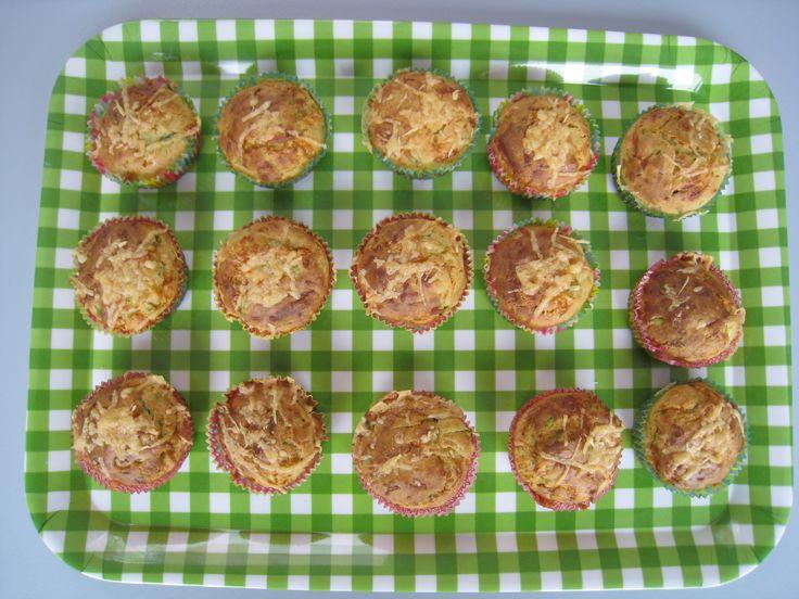 Hartige muffins met courgette en Gruyèrekaas