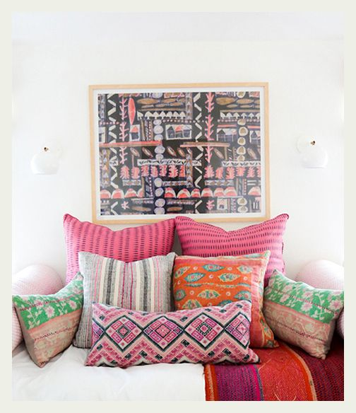An Indian Decor Blog The Charming: Mixing Print & Pattern Images On