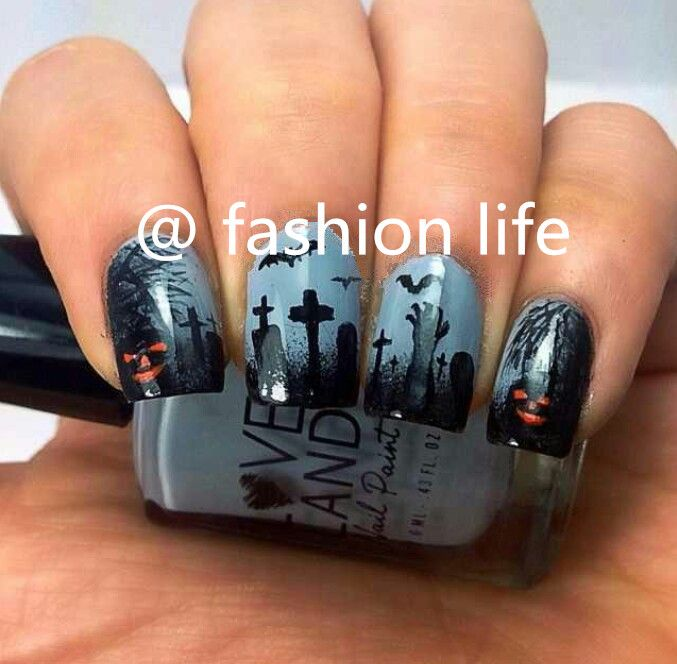 #nail art,nail-painted# ‪#‎Halloween‬ ‪#‎Christmas‬ #2015 #back to school