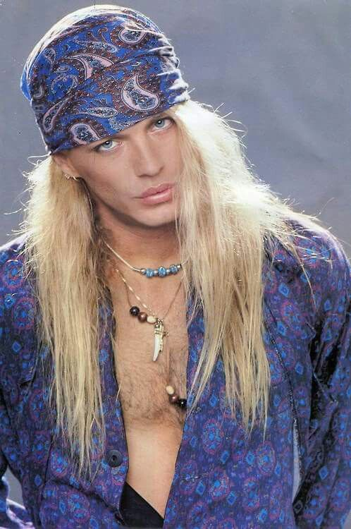 Bret Michaels, long-haired as all great rock stars were!
