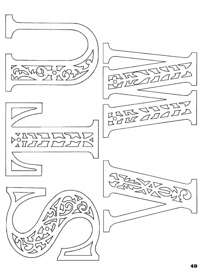 Best 25 stencil patterns letters ideas on pinterest free letter classic fretwork scroll saw patterns spiritdancerdesigns Image collections