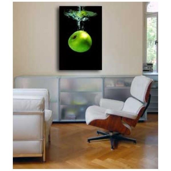 Fotocanvas groene appel onder water