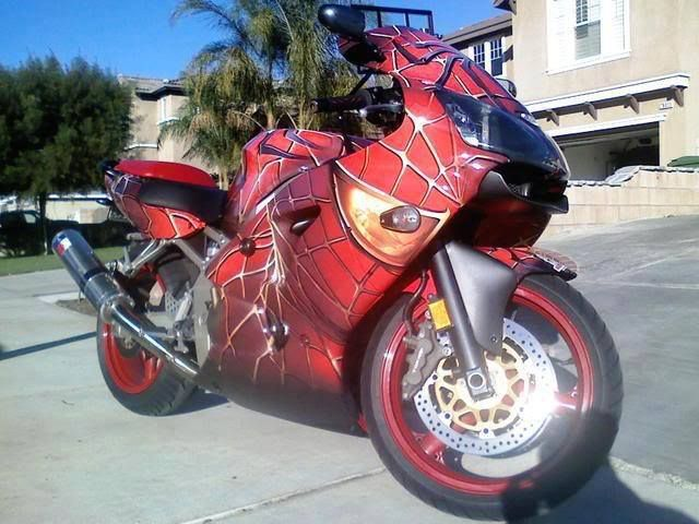 26 best images about vehicles on pinterest helmets shark evoline and norton motorcycle - Spider man moto ...