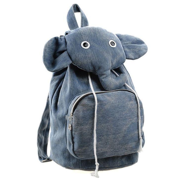 Lovely Elephant Canvas Backpack