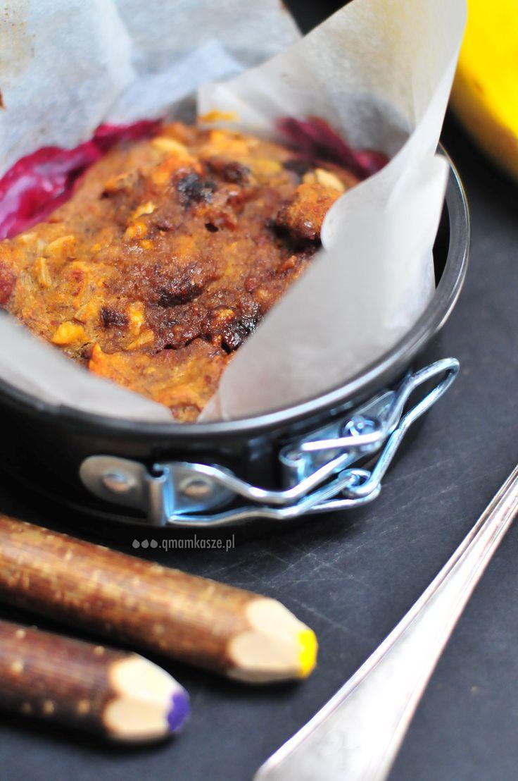 banana & plum cake with chestnut flour