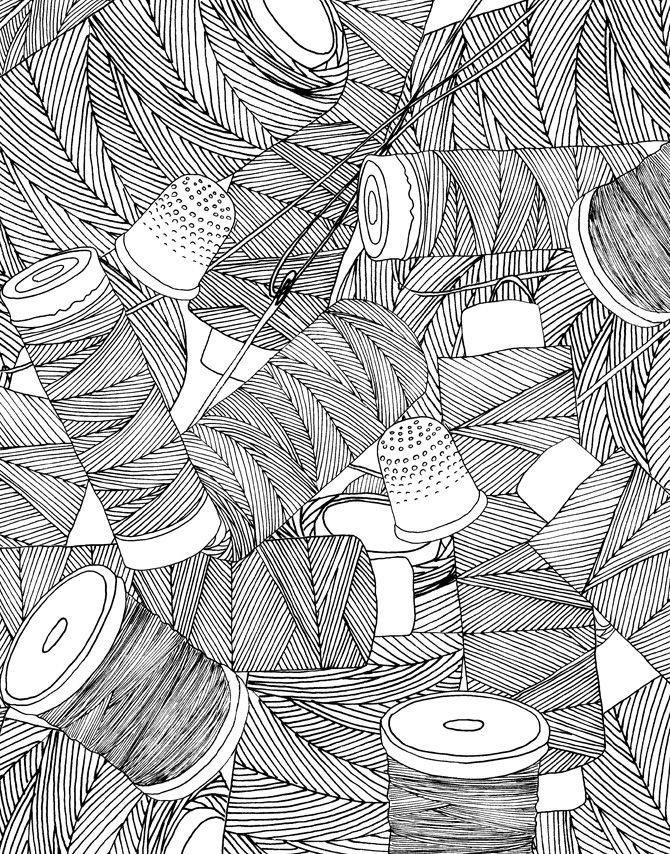 Kleurplaat-Tekening- Sjabloon- Dessin- Patroon: Allerlei *Colouring Pict.- Template- Drawing- Pattern