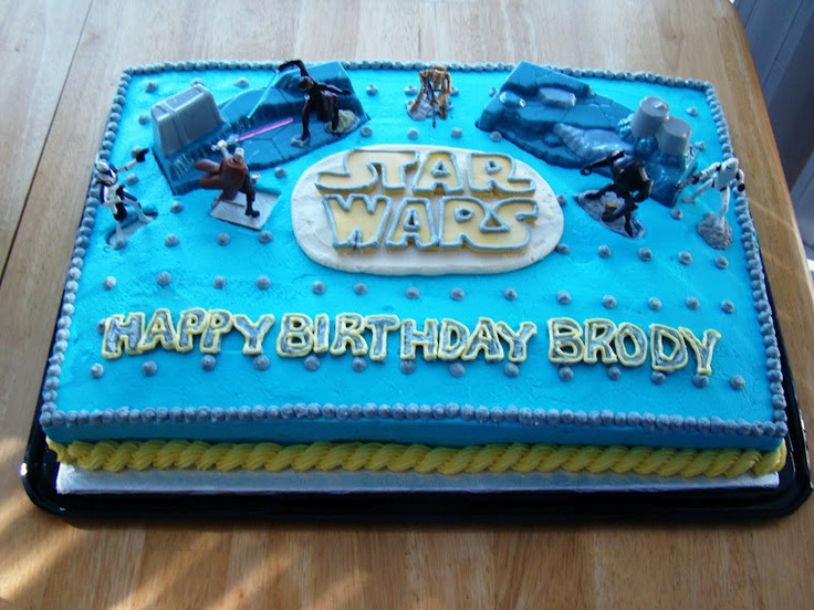 Excellent Star Wars Birthday Cake Pinterest The Cake Boutique Personalised Birthday Cards Bromeletsinfo