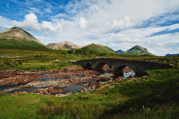 Старый мост Sligachan, Остров Скай, Шотландия