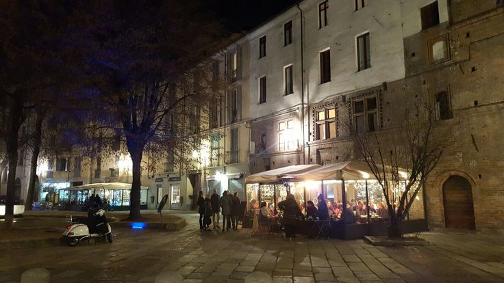 Piazza IV Marzo, near the Porta Palazzo market.  When you come you must have lunch or dinner here: so heavenly