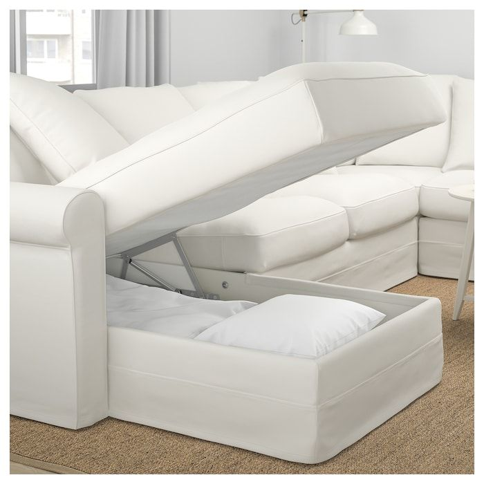 Gronlid Sectional 5 Seat Corner With Chaise Inseros White White Sectional Sofa White Couch Cover Deep Seated Sectional