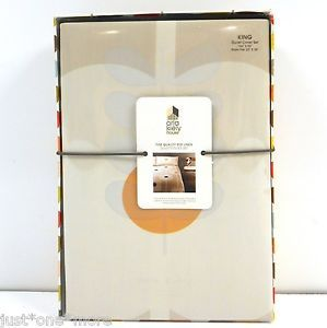 Orla Kiely Giant Abacus 3pc King Duvet Set Priority Ships Natural Floral | eBay