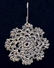 reflective yarn -crochet reflector flower