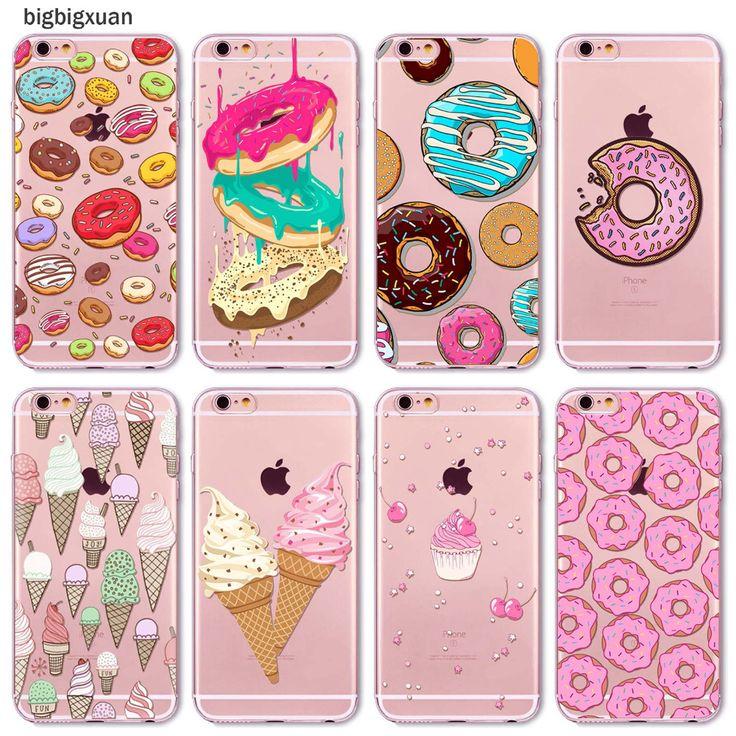 Купить товарЦвета радуги Питания Гамбургер Пончики Macaron Pattern Телефон Случаях Для iphone 6 6 S 5 5S SE 5C 6 Плюс 6 SPlus 4 4S Силиконовые охватывает в категории Сумки и чехлы для телефоновна AliExpress.     горячий Продавать   Hot Sale  Friunt Printed Case For iPhone 5 5s SE 6 6s 6P 6SPlus 4 4s Ultra thin Soft TPU Banana