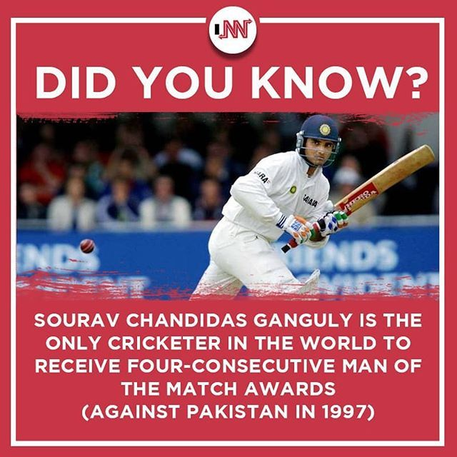 Dadagiri Souravganguly Didyouknow Cricketfacts Innfinity Realwalacasual Did You Know Baseball Cards Facts
