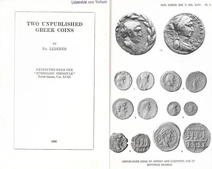 Lederer: Two unpublished Greek coins