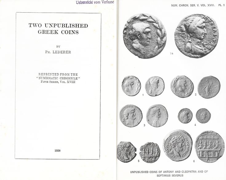 Lederer: Two unpublished Greek coins
