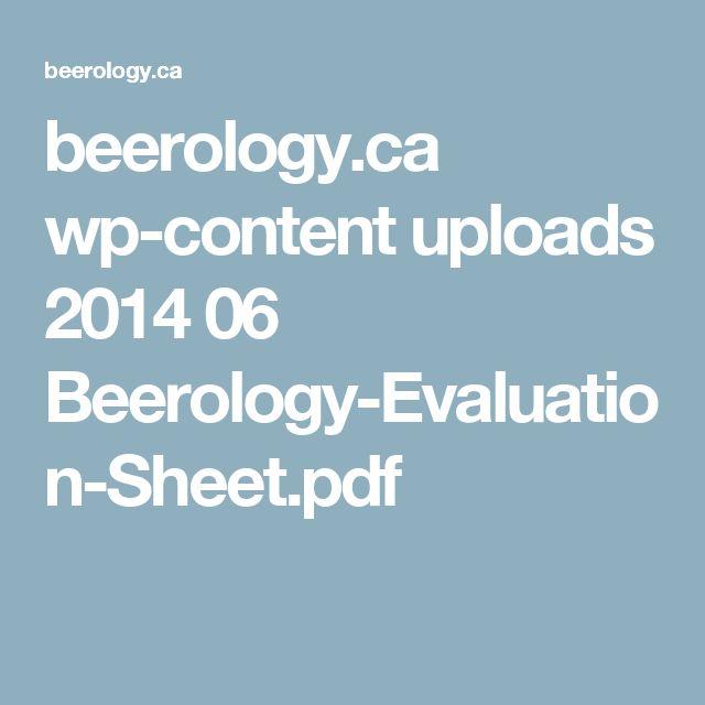 beerology.ca wp-content uploads 2014 06 Beerology-Evaluation-Sheet.pdf