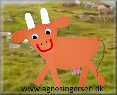 Koen har jeg lavet til ophæng i min dagpleje fordi vi taler meget om dyrelydene og husdyrene i øjeblikket. Du kan hente skabelonerne her, hvor du også finder vejledningen til koen : http://agnesingersen.dk/blog/ko/ #diy #ko #muh #cow