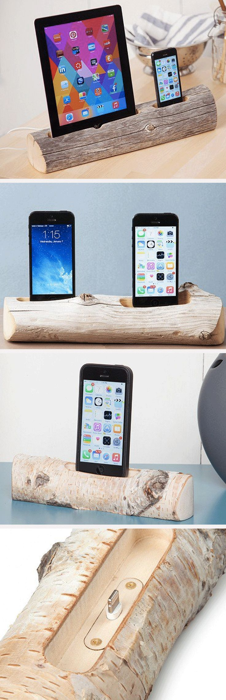 Docksmith turns unique pieces of driftwood and birch into beautiful, one-of-a-kind chargers for your smartphone or tablet.