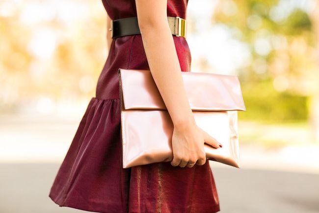Marni Metallic Leather Clutch Autumn Flare :: Metallic dress