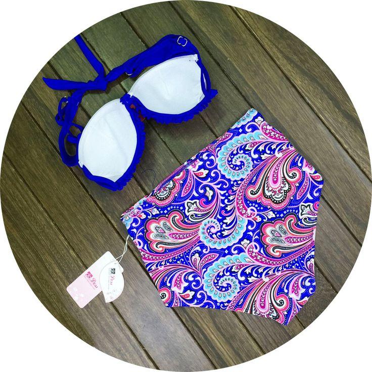 Sexy high waist Floral bikini