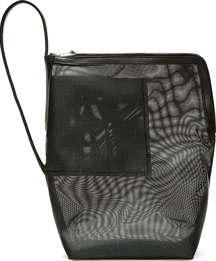 Rick Owens: Black Mesh Single Strap Bucket Bag