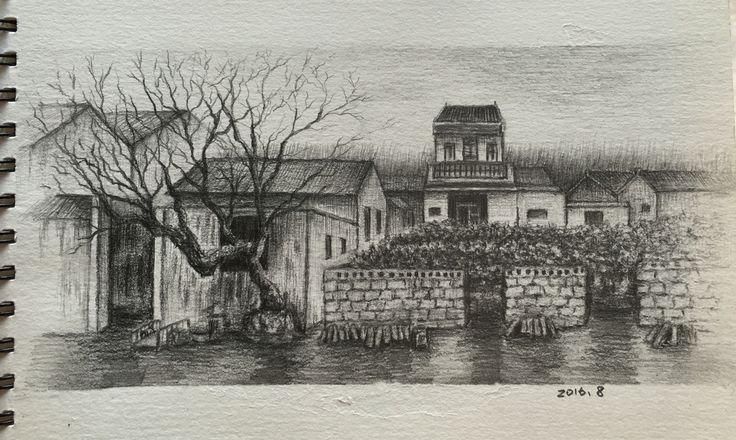 chrome hearts sale Scenery Pencil sketch