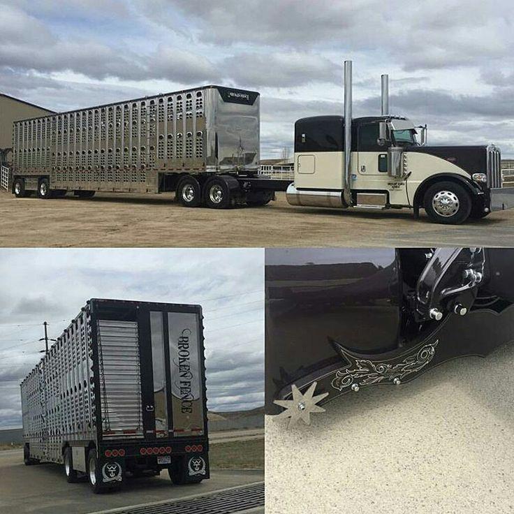 Peterbilt custom 389 bull hauler