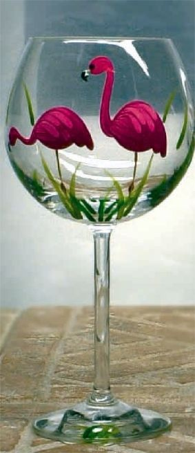 Janet Paints On Glass - Wine Glasses