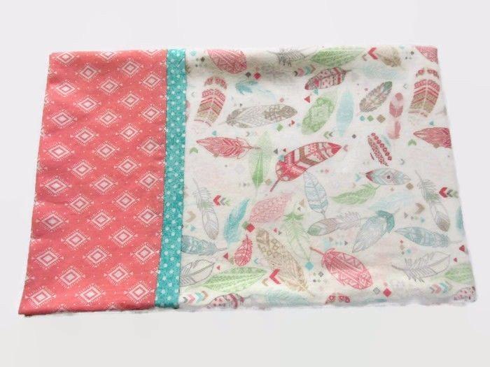 Flannel Pillowcase Pastel Feather Design For Standard 20 X 26in Pillow Handmade #Handmade #Southwestern