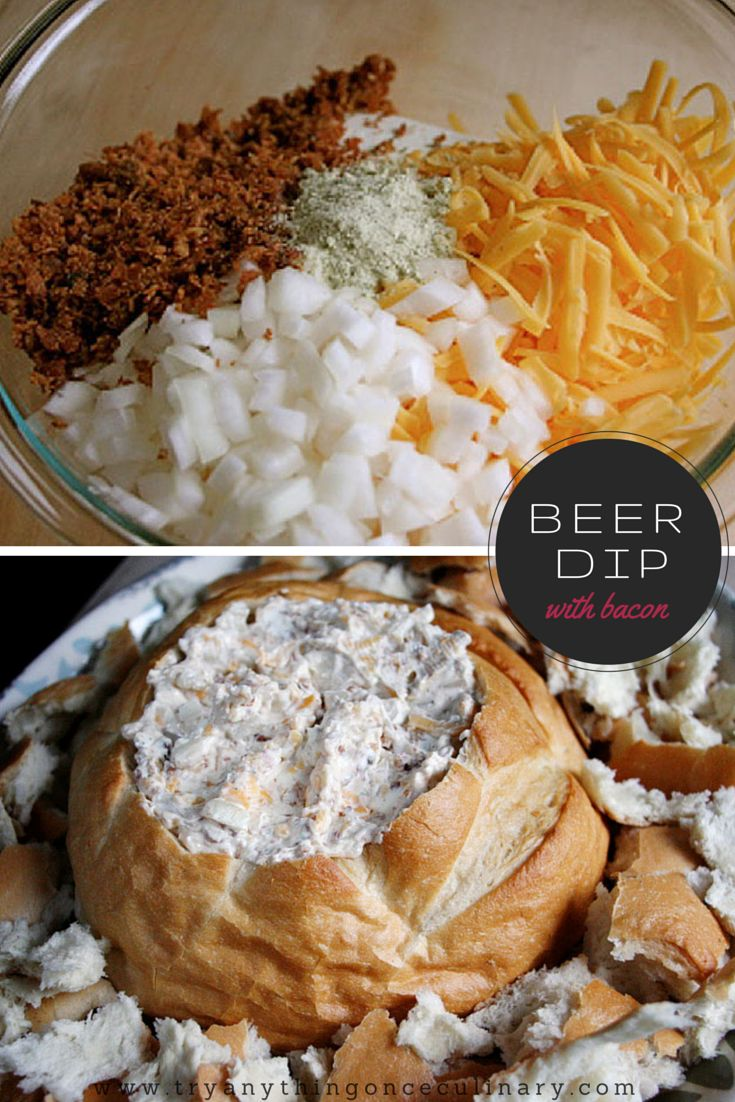 Beer dip with bacon is our most popular dip recipe. You can use any beer that you like!