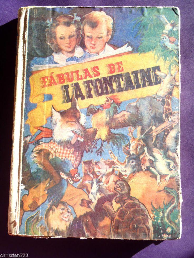 FABULAS DE LA FONTAINE FABLES  BEAUTIFUL ILLUST !! MEGA RARE ARGENTINE ED MOLINO