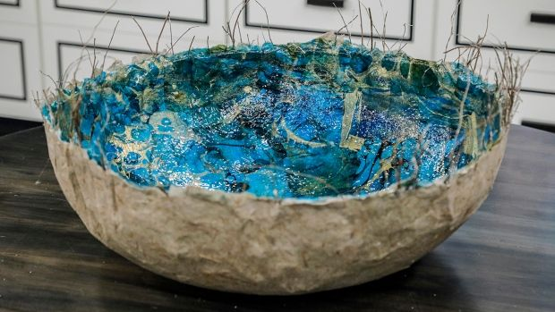 Elevate a simple papier mâché bowl into a stunning statement piece
