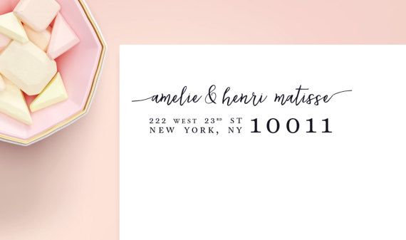 """Clear Address Stickers 2 5/8"""" x 1"""", Glossy Transparent Custom Labels, Return Label, Custom Address Sticker, Wedding Labels, SET OF 30"""