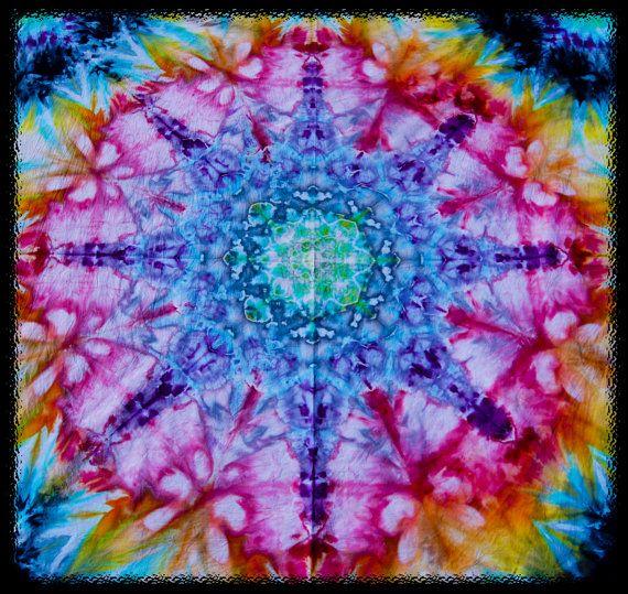 Tie Dye Tapestry Trippy Festival by GratefullyDyedDamen on Etsy