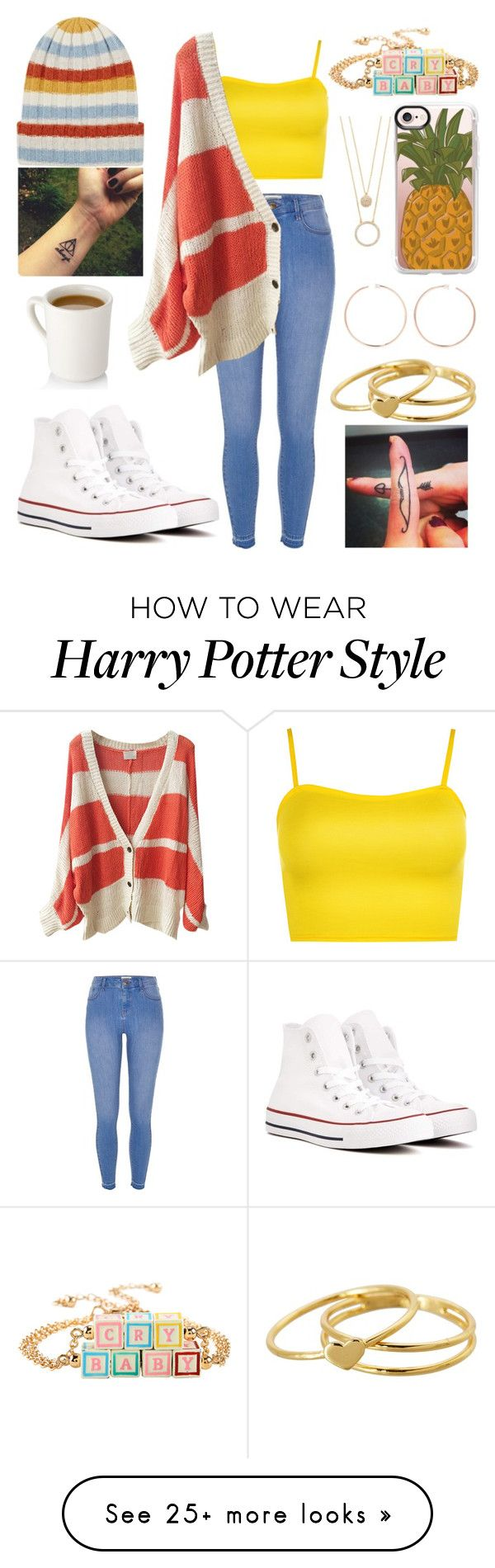 """Untitled #1087"" by loves-5sos on Polyvore featuring The Elder Statesman, River Island, WearAll, Casetify, Hot Topic, Anita Ko, Kate Spade, Gorjana and Converse"
