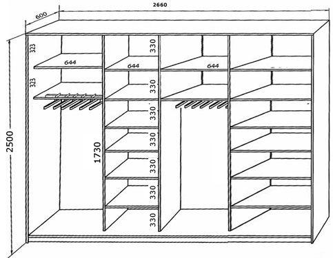 59 melhores imagens sobre armario no pinterest - Medidas de un armario ...