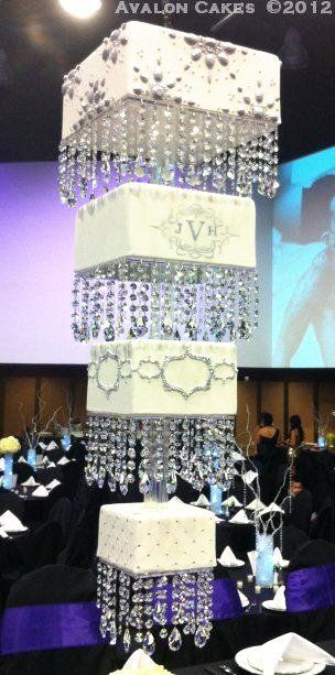 Guess, cake or home decore, haha! Chandelier Cake