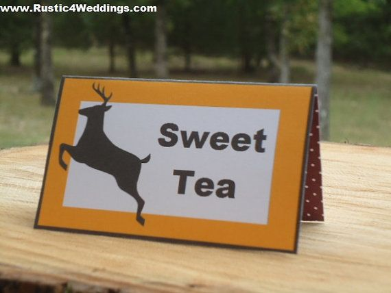 food place card labels diy printable deer by
