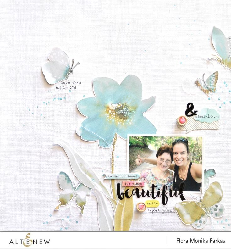 12x12 scrapbook layout made with Altenew Reflecion Scrapbook Kit | Flora Monika Farkas #altenew #altenewscrapbookkit