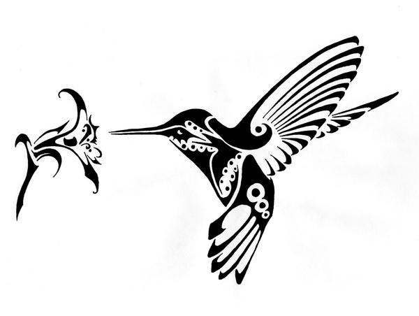 henna/tattoo hummingbird