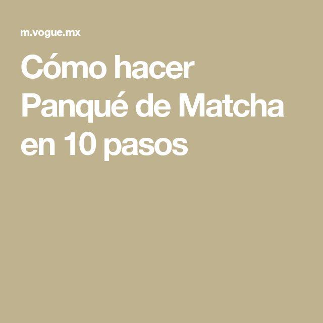 Cómo hacer Panqué de Matcha en 10 pasos