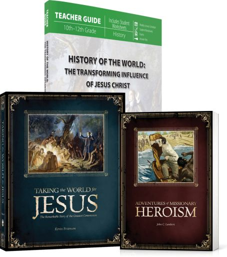 History of the World (Curriculum Pack) available at Master Books. In this World History course, the student will embark on a whirlwind journey through 2,000 years of world history through the lens of Christ's Great Commission. To gain a biblical perspective on the history of the world, Christians must view the events of history in light of God's purpose in glorifying His name through the exaltation of His Son.