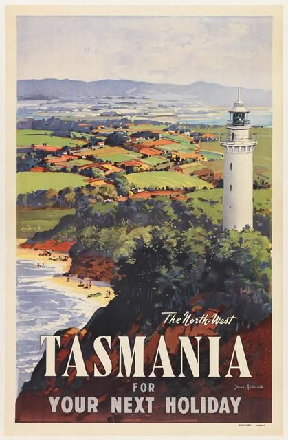The North-West Tasmania for Your Next Holiday. #vintagetravel #travel #travelposter #tasmania #discovertasmania