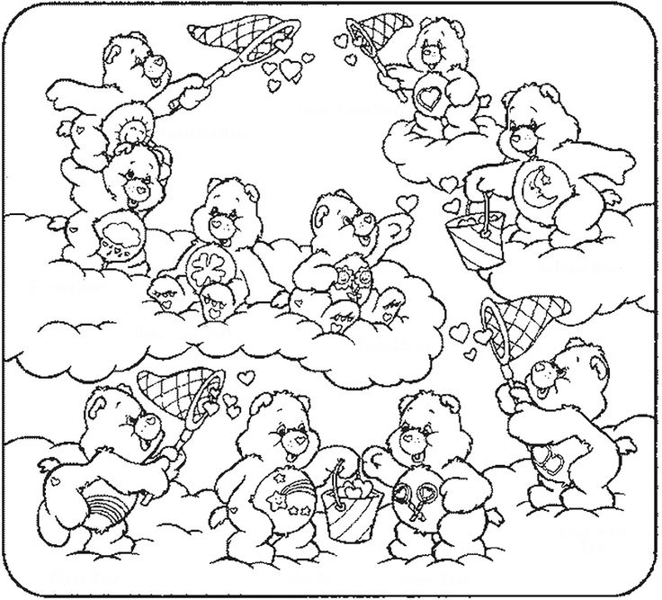 Care Bear Coloring Pages See More Bears Cl 05