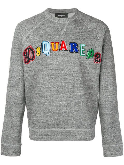 3c11c86d Shop Dsquared2 embroidered logo sweatshirt.   House of Aces in 2019   Mens  designer sweatshirts, Sweatshirts, Jeans, sneakers