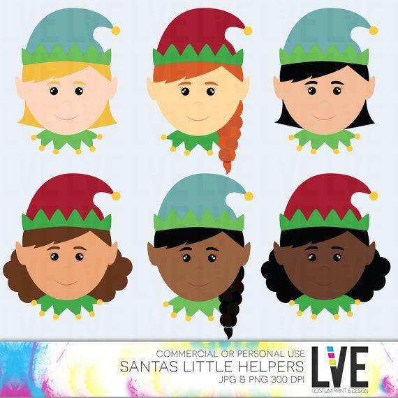 Girl Elf Faces Clip Art Images Commercial or by LVExDigitalScraps VISIT: http://www.etsy.com/shop/xxLVE